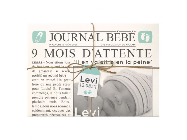 Faire-part Naissance Belarto - Hello World - 718020